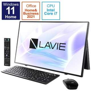 デスクトップパソコン LAVIE A27 ファインブラック PC-A2797CAB [27型 /intel Core i7 /メモリ:16GB /HDD:4TB /SSD:256GB /2021年秋冬モデル]