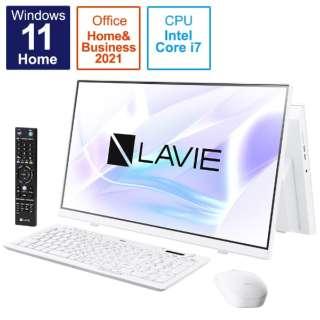 デスクトップパソコン LAVIE A23 ファインホワイト PC-A2377CAW [23.8型 /intel Core i7 /メモリ:8GB /SSD:1TB /2021年秋冬モデル]