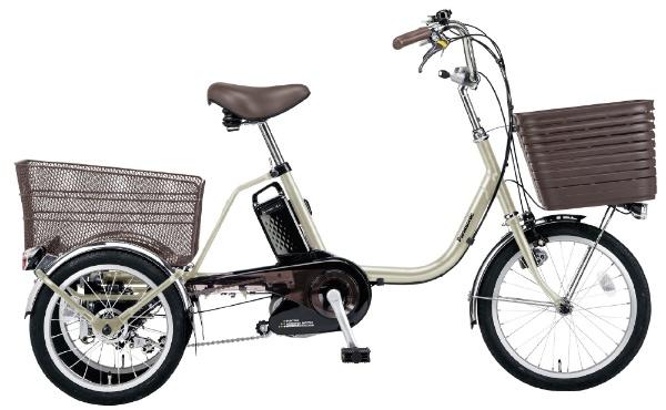 電動アシスト三輪自転車 ビビライフ ViViライフ STチタンシルバー BE-ELR834 [18(前輪)/16(後輪)インチ /3段変速]
