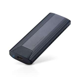 LGB-PNV02UC SSDケース USB-C+USB-A接続 ブラック [M.2対応 /NVMe /1台]