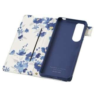 Xperia 5 III/レザーケース/手帳/UltraSlimFlowers/薄 PM-X214PLFUJNV