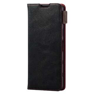 Xperia 5 III/レザーケース/手帳/ステッチ/耐衝撃磁石 PM-X214PLFYBK