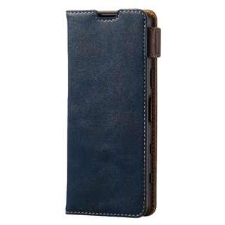 Xperia 5 III/レザーケース/手帳/ステッチ/耐衝撃磁石 PM-X214PLFYNV
