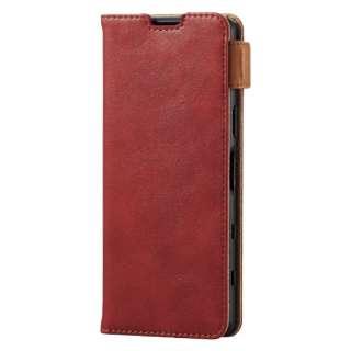 Xperia 5 III/レザーケース/手帳/ステッチ/耐衝撃磁石 PM-X214PLFYRD