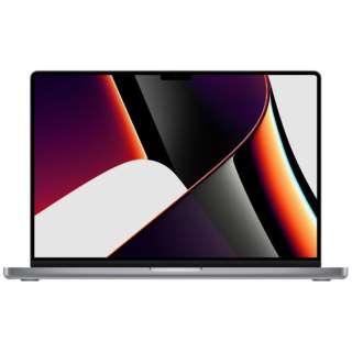 MacBook Pro  16インチ Apple M1 Proチップ搭載モデル[2021年モデル/SSD 1TB/メモリ 16GB/10コアCPUと16コアGPU ]スペースグレイ MK193J/A