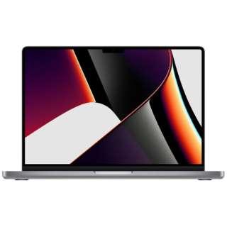 MacBook Pro  14インチ Apple M1 Proチップ搭載モデル[2021年モデル/SSD 512GB/メモリ 16GB/8コアCPUと14コアGPU ]スペースグレイ MKGP3J/A